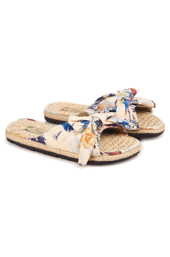 Boaslider Vegan Sandals in Bali Surf Print