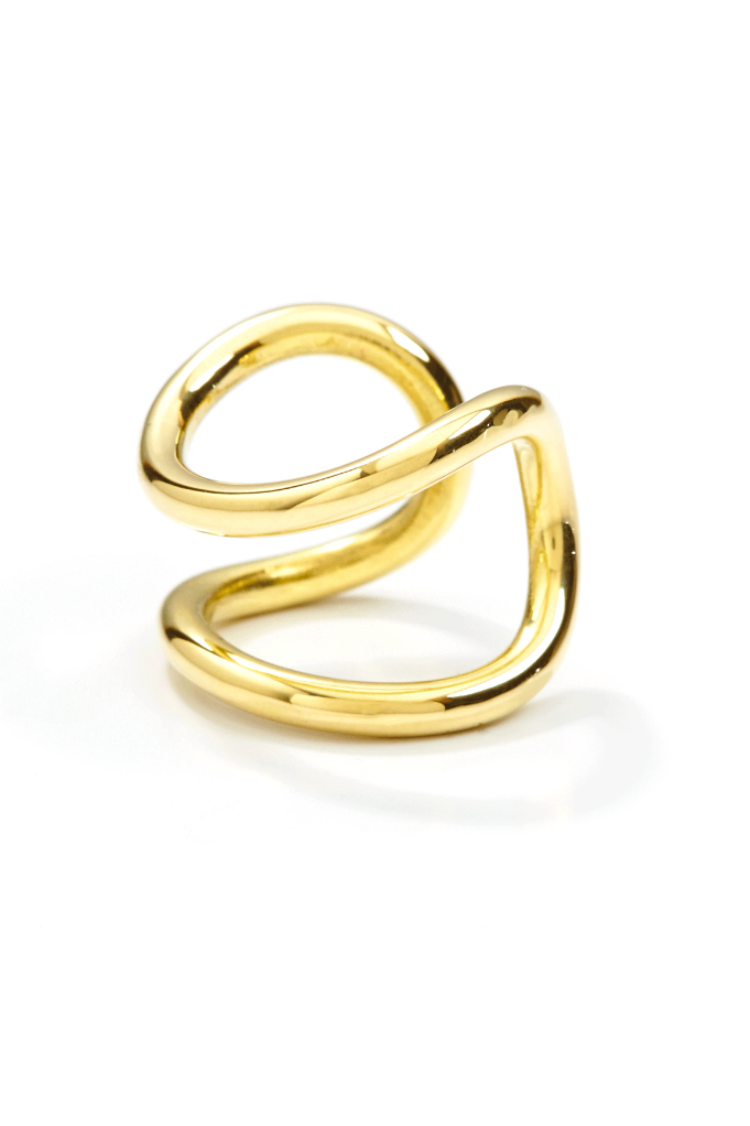 Handmade Bold Ring in Brass or Sterling Silver