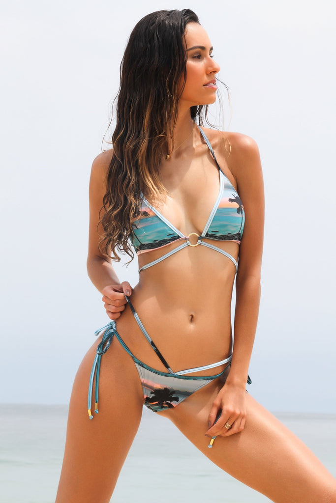 Bellini Biodegradable Bikini Bottom in Tropical Colors