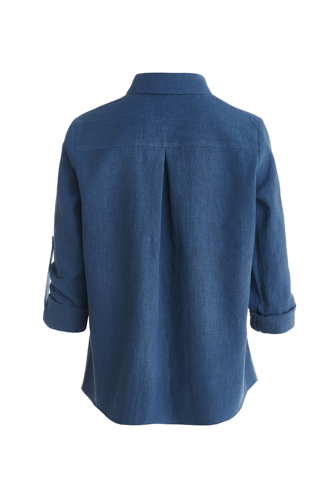 Antibes Eco-friendly Ramie Shirt in Blue