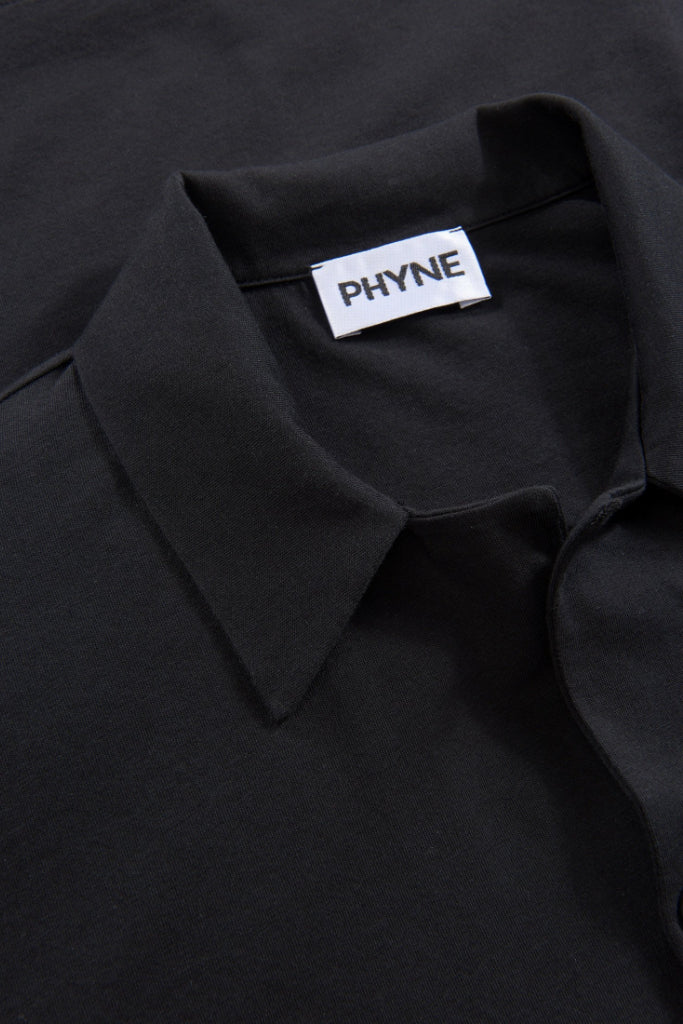 Fearless Future Button Down Organic Cotton Shirt in Black