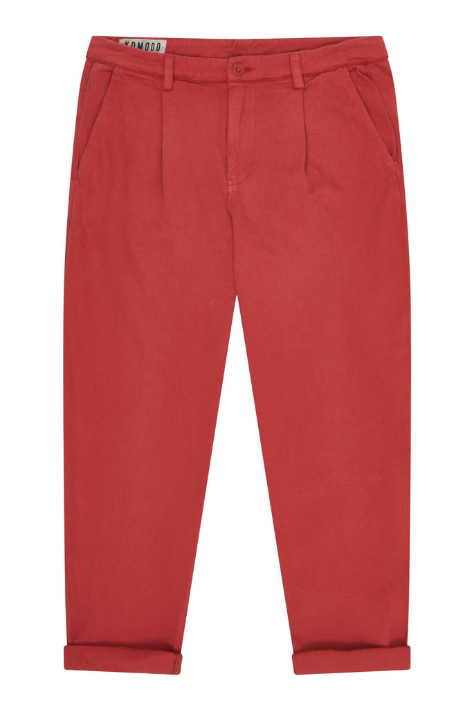 Bowie Organic Cotton Men's Trousers in Dusky Cedar