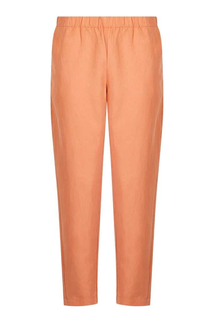 Rama Vegan Tencel & Linen Trousers in Ginger