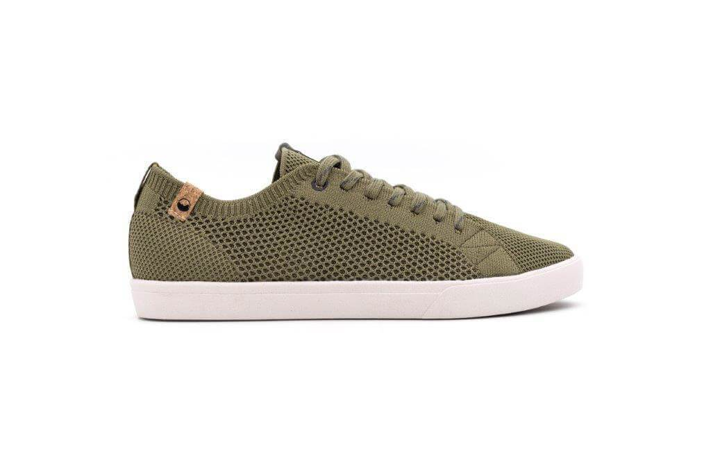 Men Cannon Recycled Knit Sneakers in Burnt Olive