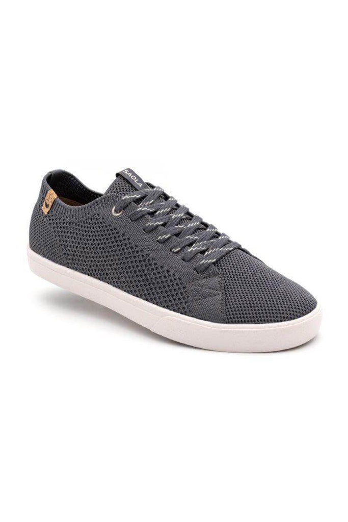Men Cannon Recycled Knit Sneakers in Charcoal