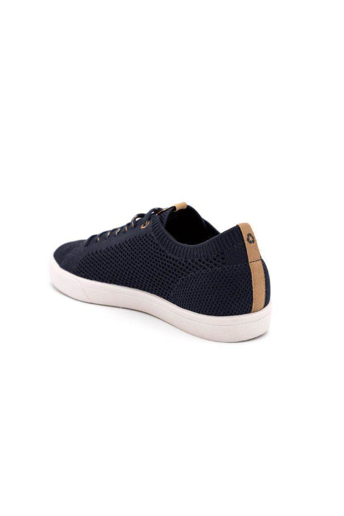 Men Cannon Recycled Knit Sneakers in Navy