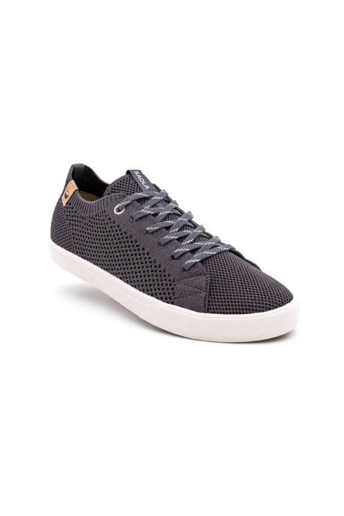 Women Cannon Recycled Knit Sneakers in Obsidian