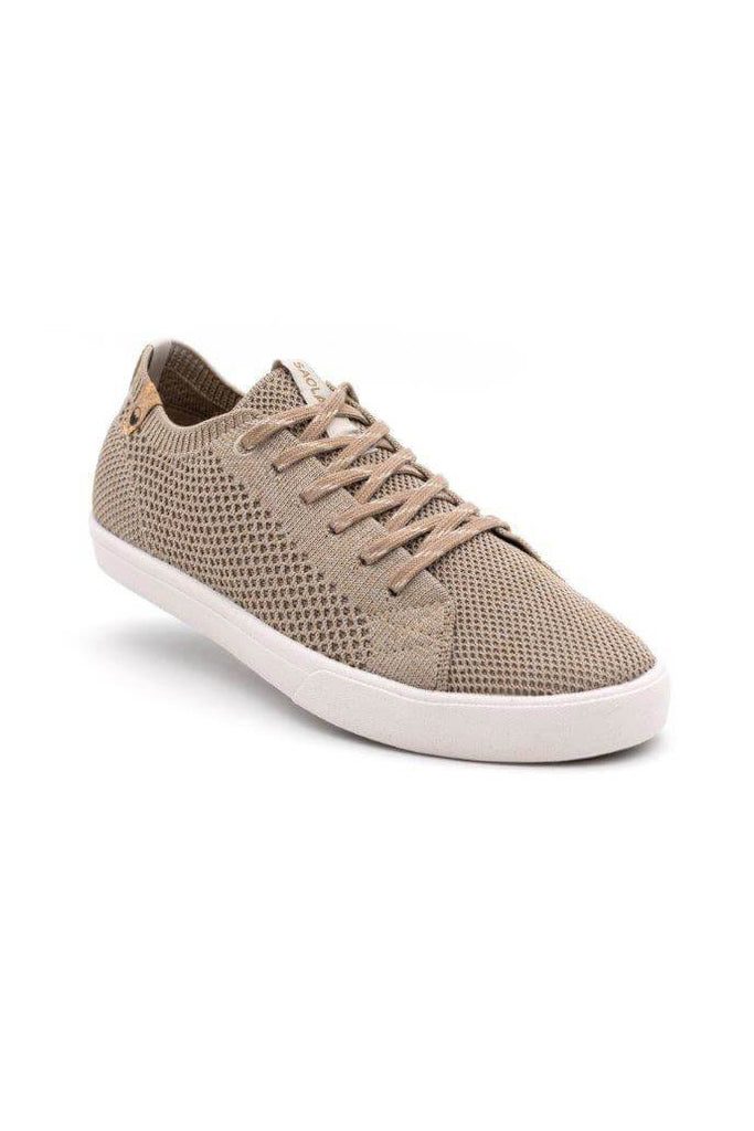 Women Cannon Recycled Knit Sneakers in Sand