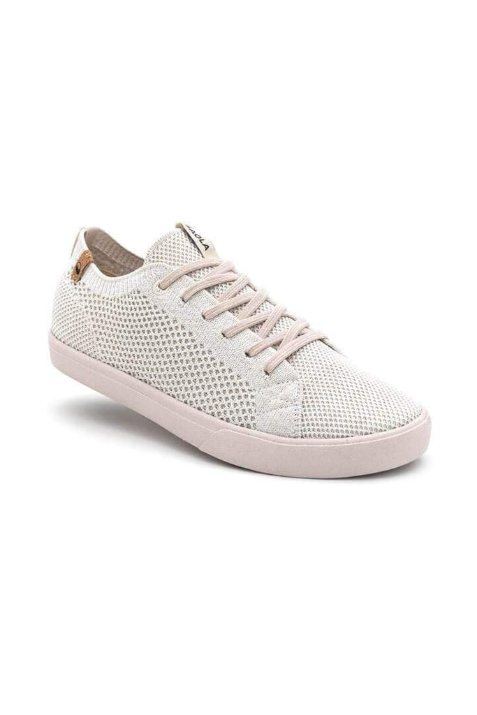 Women Cannon Recycled Knit Sneakers in White