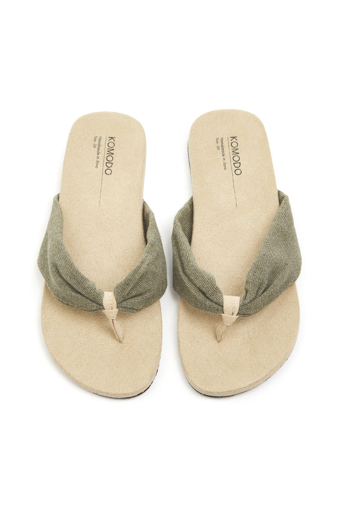 Cupid Vegan Sandals in Olive