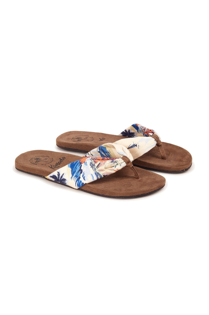 Cupid Vegan Sandals in Bali Surf Print