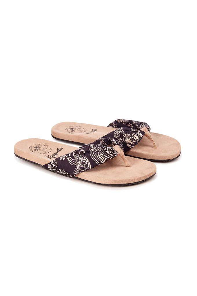 Cupid Vegan Sandals in Uluwatu Black Print
