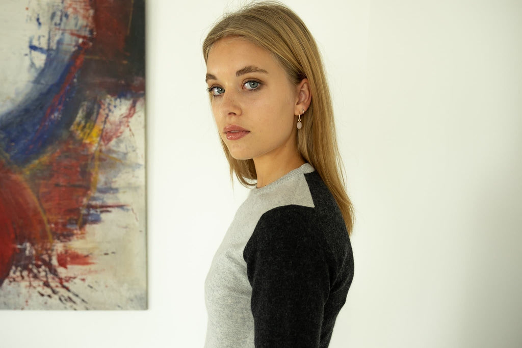 The Emmeline Handmade Cashmere Sweater in Gray