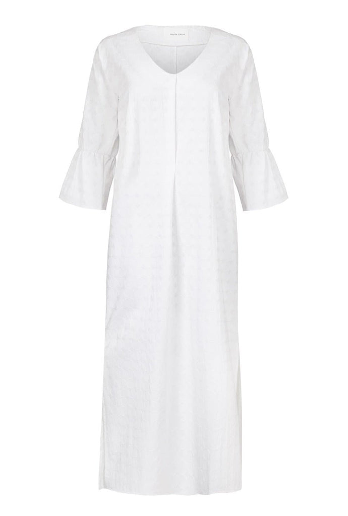 Coachella Organic Cotton Dress in White