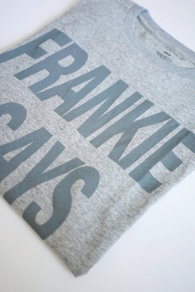 Frankie Says Recycled Cotton Men's T-shirt in Gray