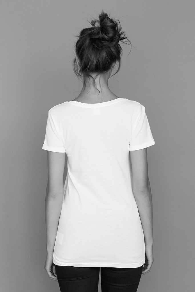 Slim fit rolled sleeves - Suvin Cotton T-shirt in White