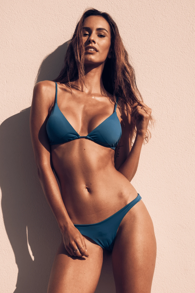 Mojito Biodegradable Bikini Bottom in Blue