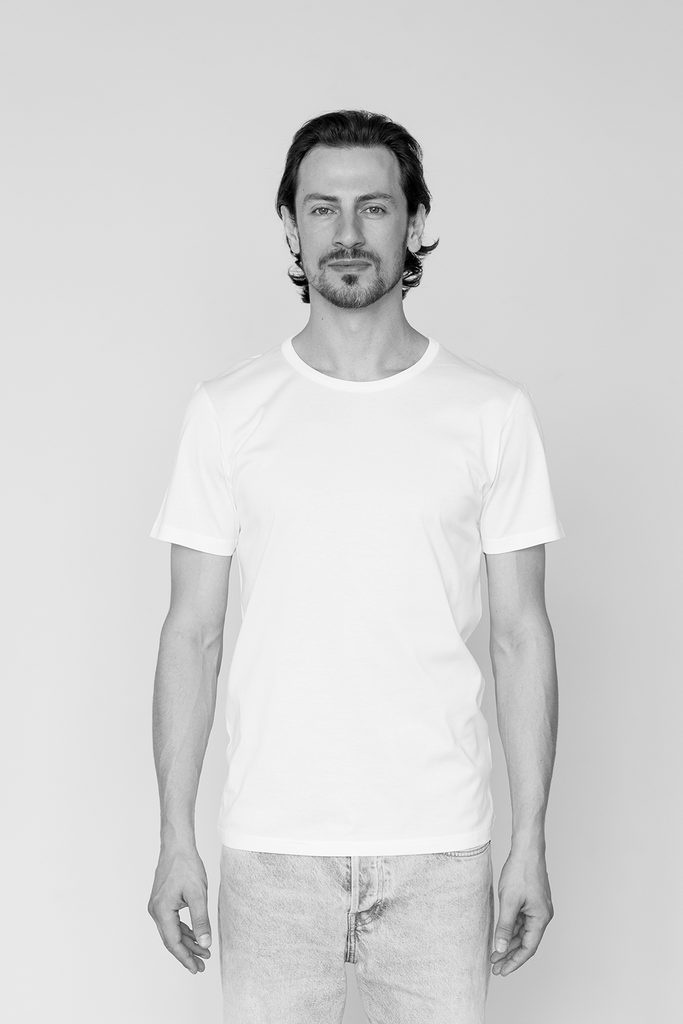 Man Regular Fit Suvin Organic Cotton T-shirt in White