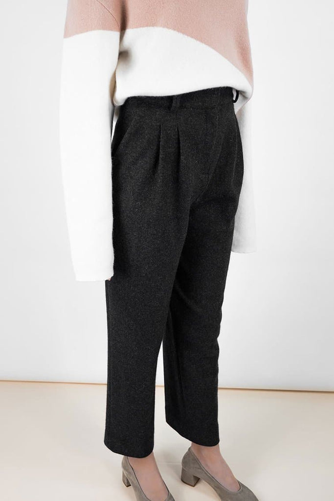 Archie Wool Cigarette Trousers