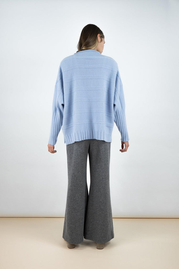 James Superfine Wool/Cashmere Sweater - Morning Sky Blue