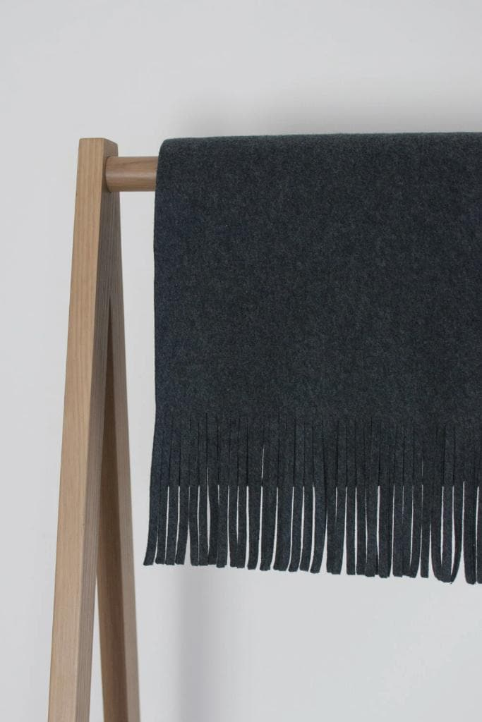 #046 Organic Cotton Unisex Oversized Scarf in Charcoal