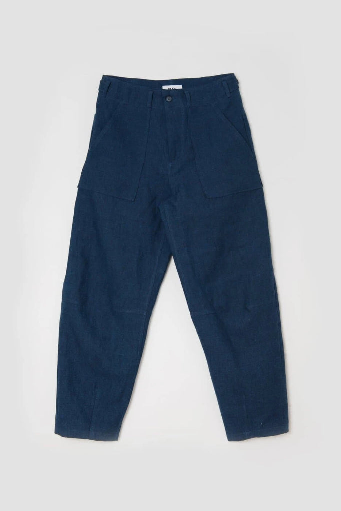 Handmade Organic Cotton & Hemp Workshop Jeans in Indigo