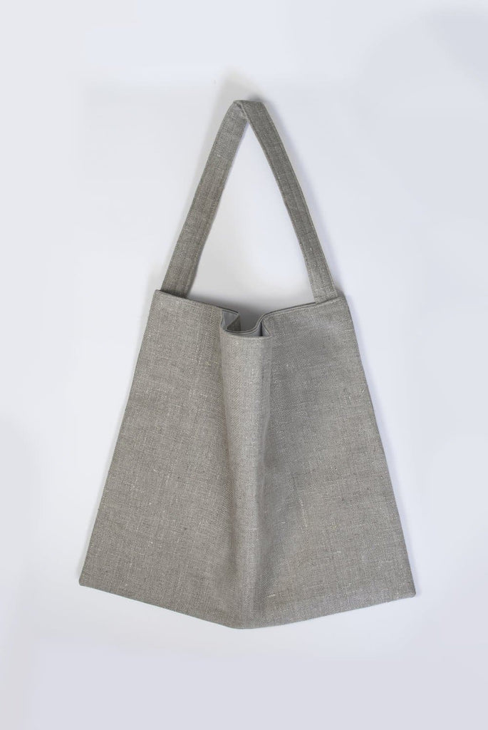 #029 Unisex Organic Cotton & Linen Tote Bag in Gray