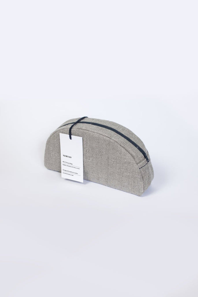 #033 Organic Cotton Women Make-up Bag in Gray