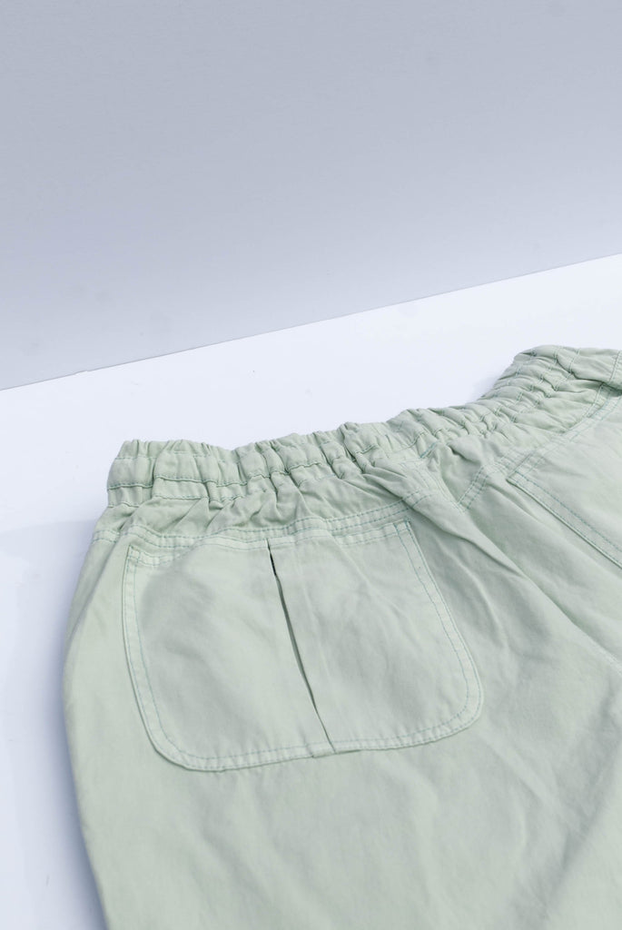 Danny  Organic Cotton Unisex Trousers in Mineral Green