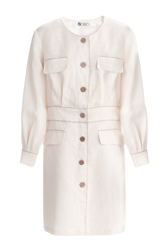 Cannes Eco-Friendly Ramie Dress in White