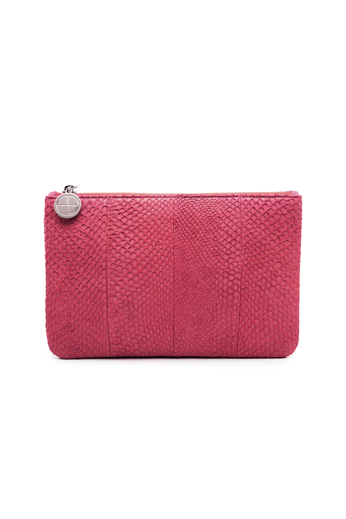 Inger By-product Salmon Leather Shoulder Bag in Midnight Pink - Mini to Regular