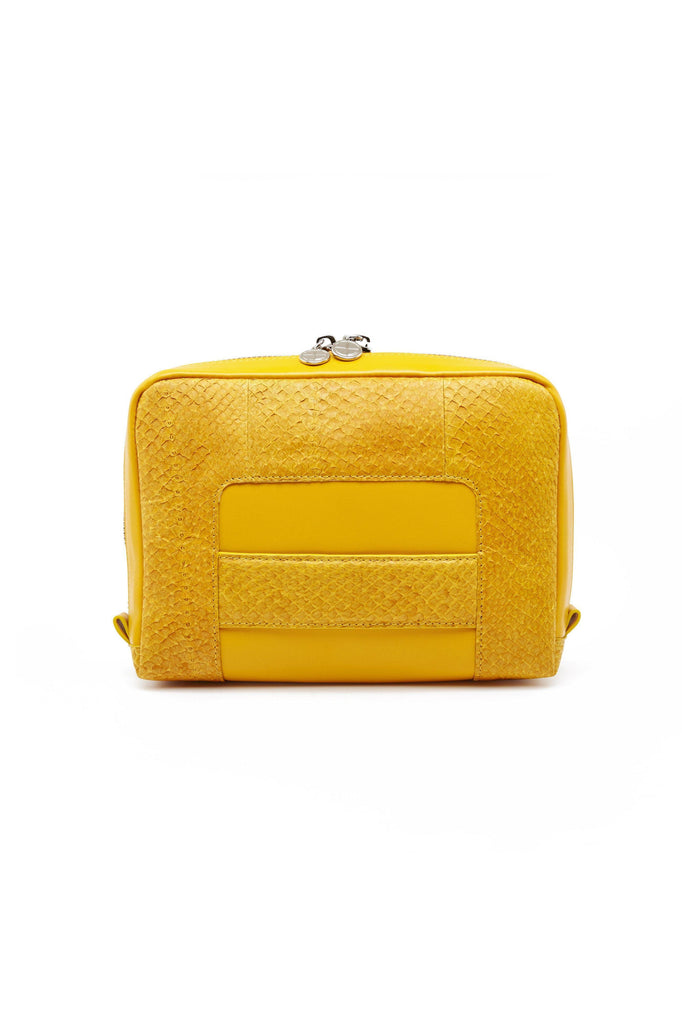 Lilli By-product Salmon Leather Shoulder Bag Clutch in Yellow