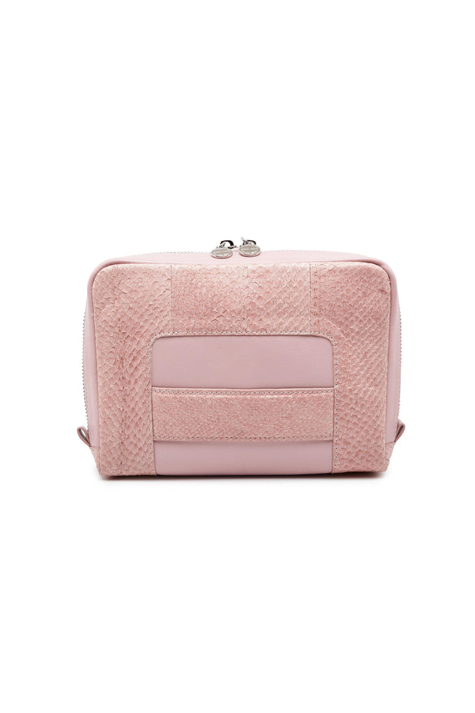 Lilli By-product Salmon Leather Shoulder Bag Clutch in Pink