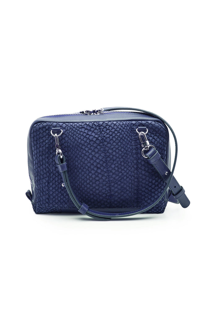 Lilli By-product Salmon Leather Shoulder Bag Clutch in Arctic Blue