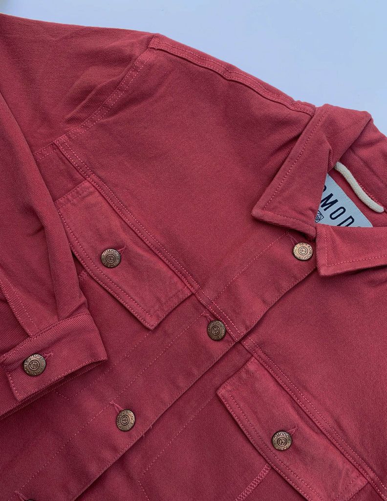 Evel Fleece Organic Cotton Women's Jacket in Red