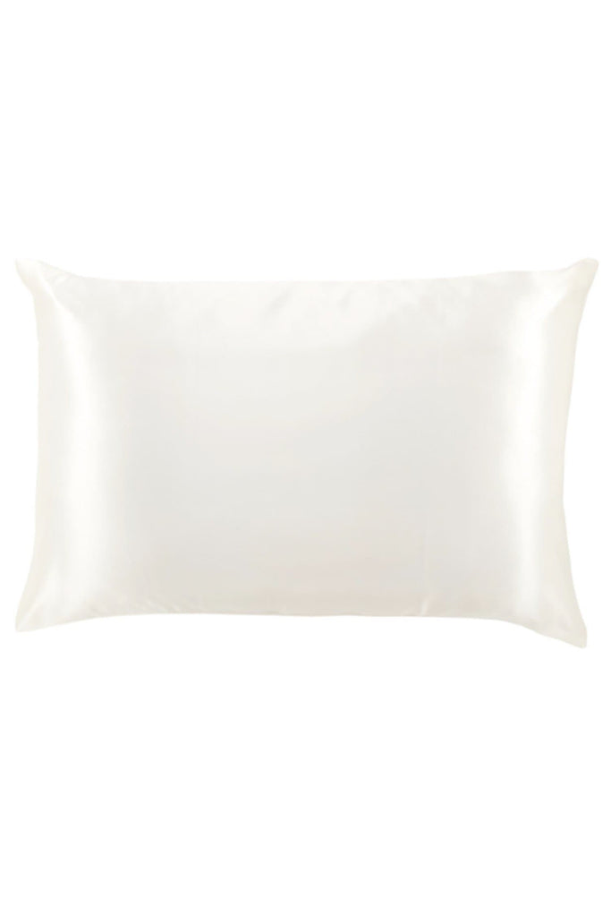 Organic Peace Silk Pillowcase in Ivory