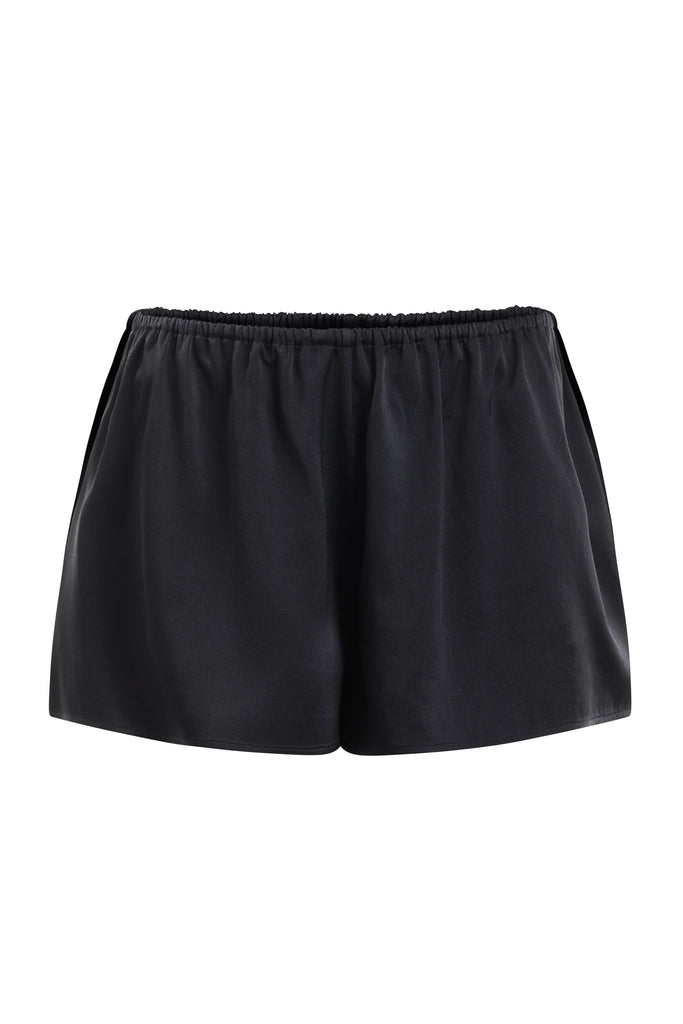 Organic Peace Silk Shorts in Black
