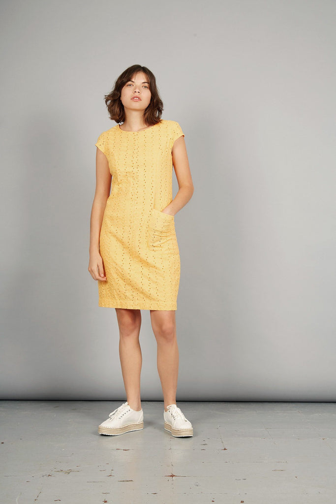 Fire Dance Organic Cotton Dress in Amber