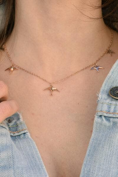 Freedom Recycled Rose Gold Plated Silver Chain Necklace