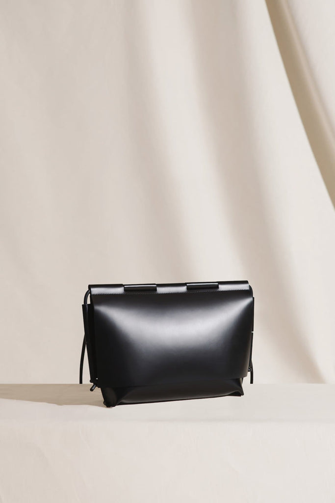 The Evans Ethical Leather Handbag in Black