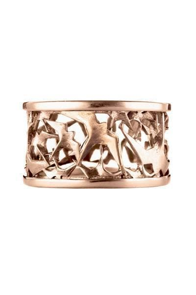 Freedom Recycled Rose Gold Plated Silver Ring