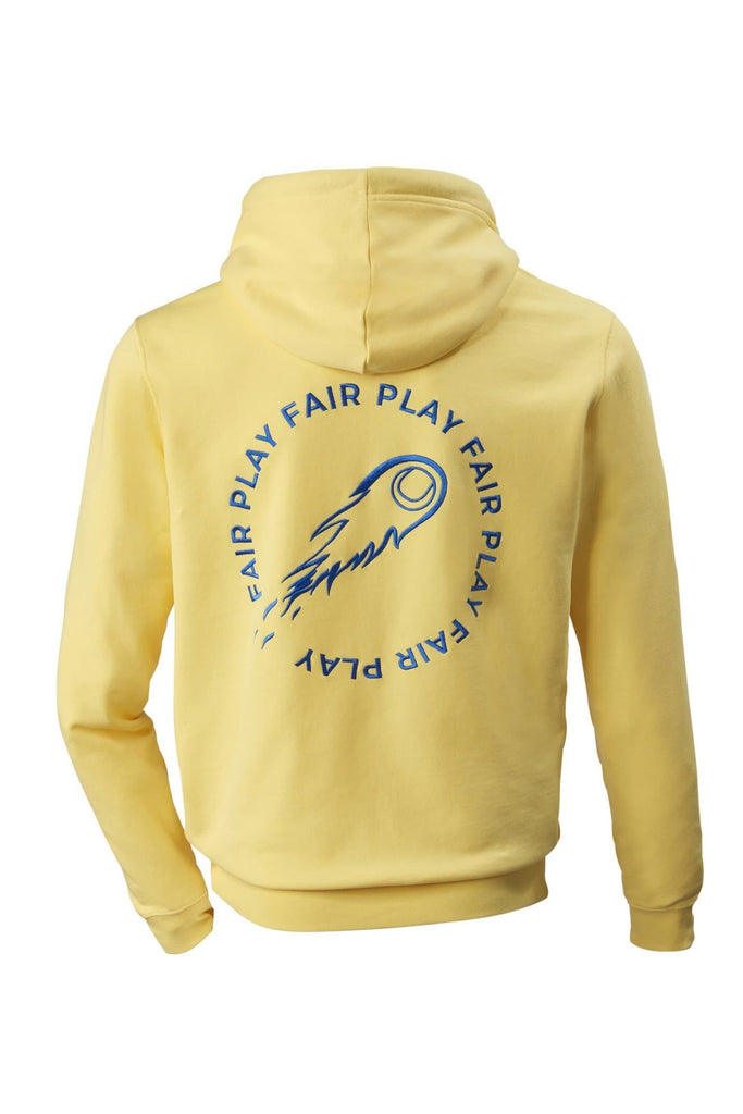 The Fair Play Organic Cotton Unisex Hoodie in Yellow