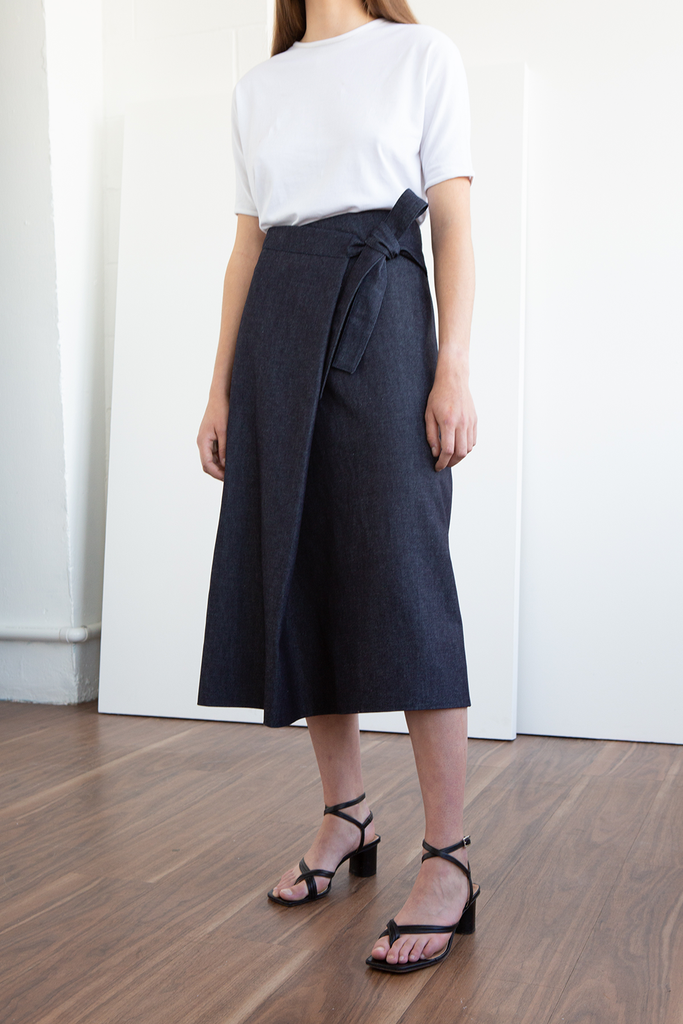 Benji Organic Cotton Denim Skirt in Blue