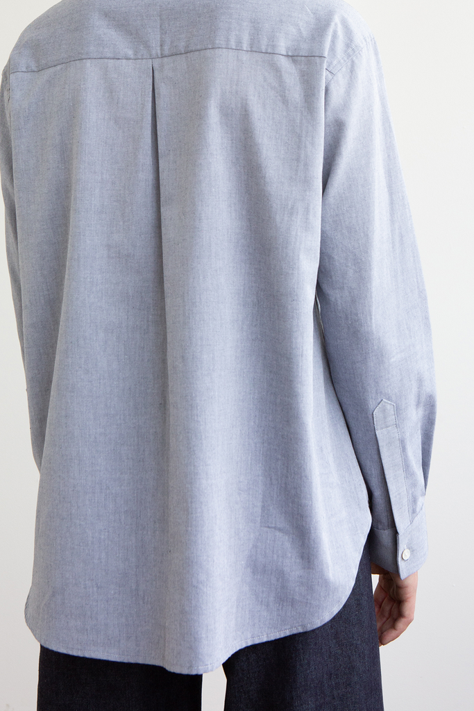 Rafe Organic Cotton Chambray Shirt in Blue