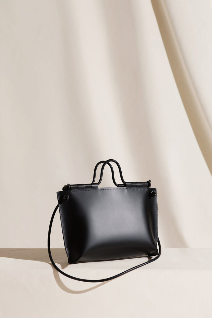 The Grande Siesta Ethical Leather Handbag in Black