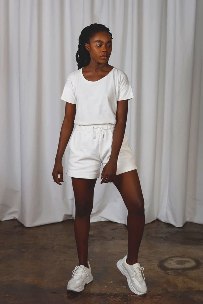 Women Gunnel Vegan Short in White