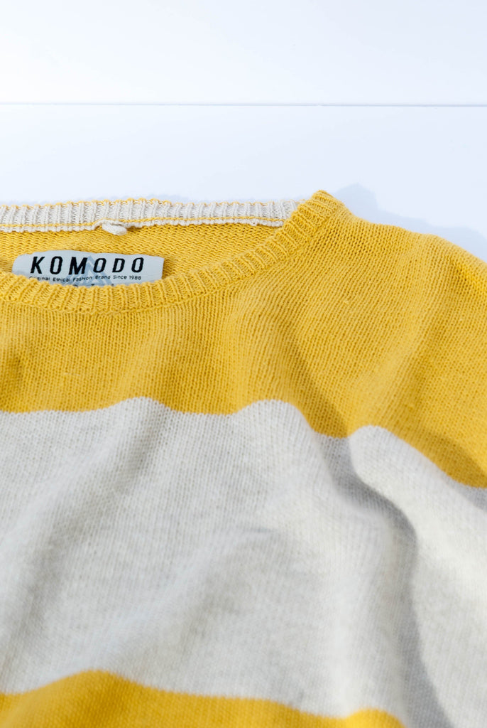 Guy Organic Linen Sweater in Amber