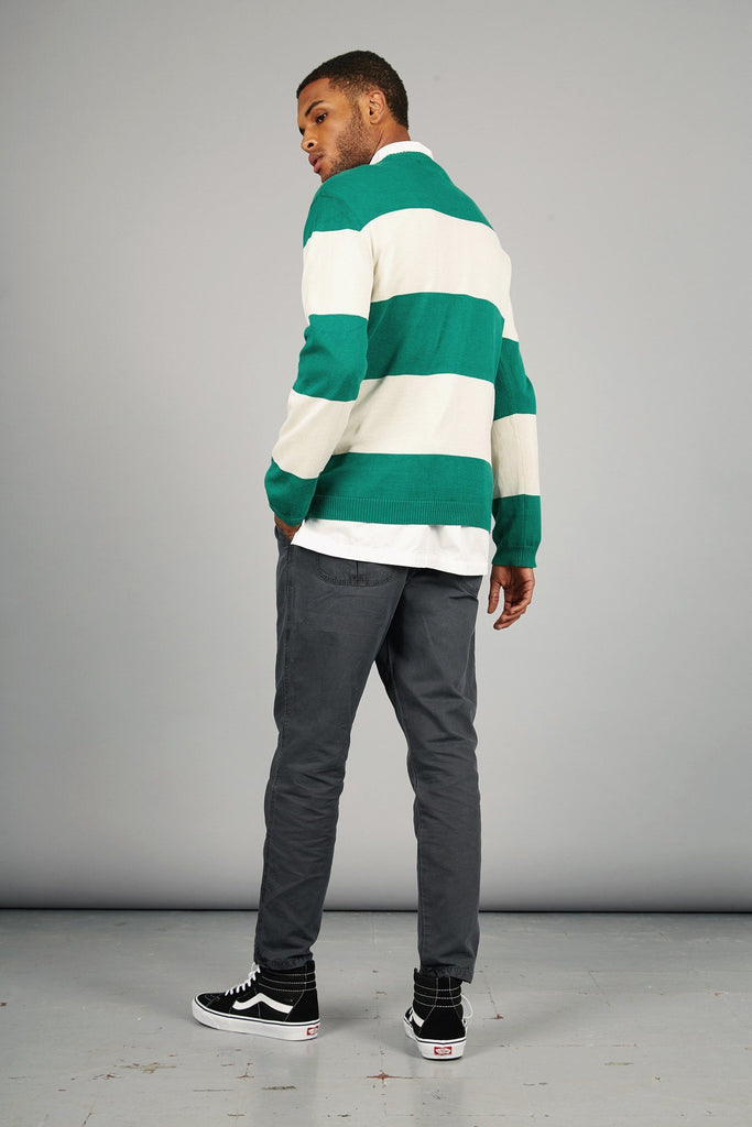 Guy Organic Cotton Sweater in Emerald Stripe