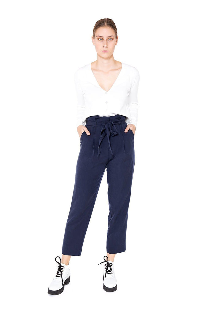 Hose Lou Natural Tencel Pants in Dark Blue