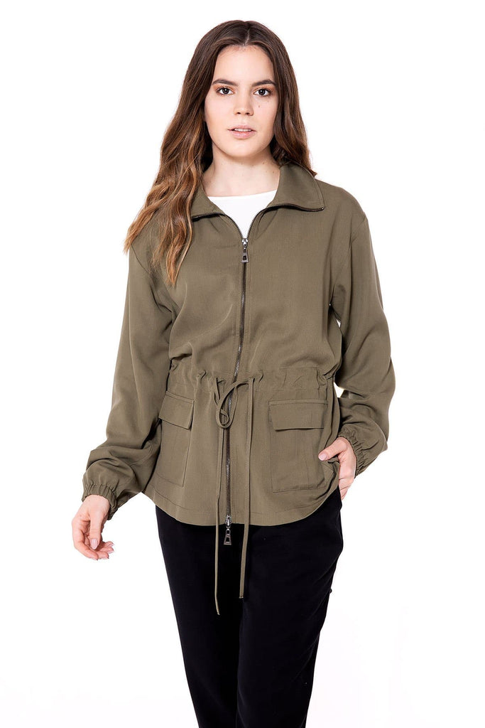 Jacke Joey Natural Tencel Jacket in Khaki